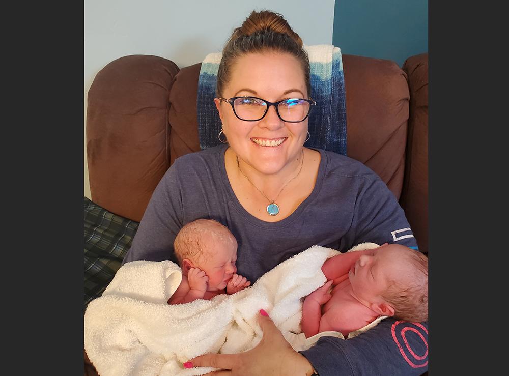 Karen Scott with grandsons