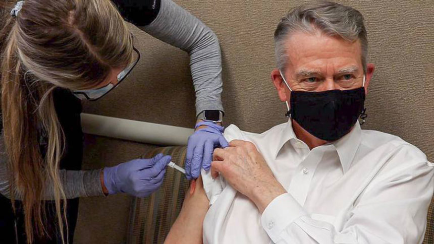 Gov. Little gets vaccinated