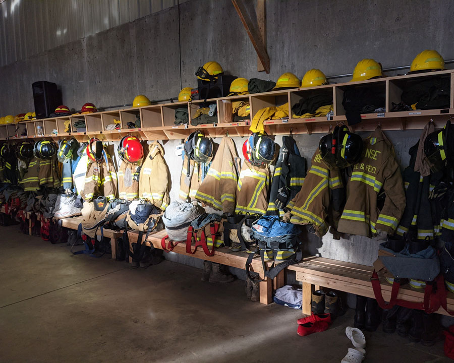 North Bannock FD lockers and turnout gear, Feb. 27, 2021