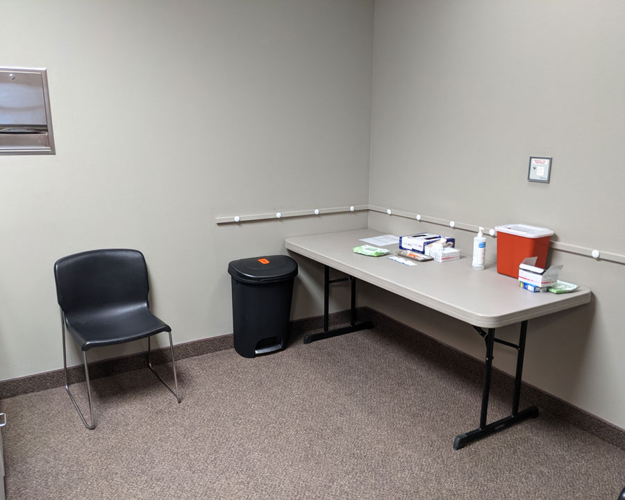Vaccination room at the ISU Sports and Orthopedic Medicine Clinic