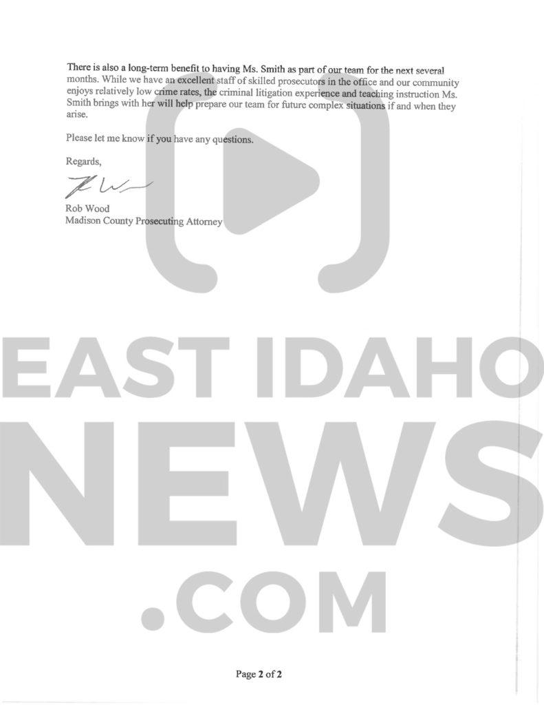 Pg 2 Wood Letter