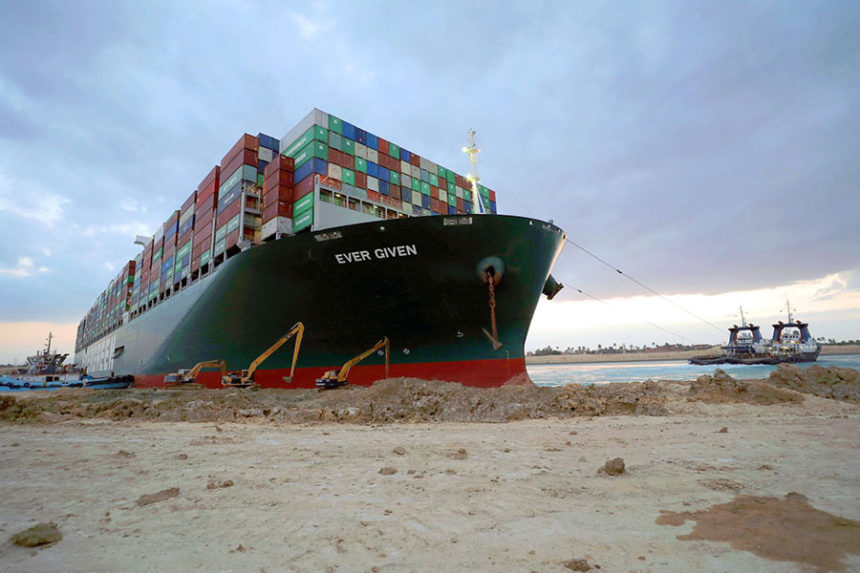 Ever Given ship stuck in Suez Canal
