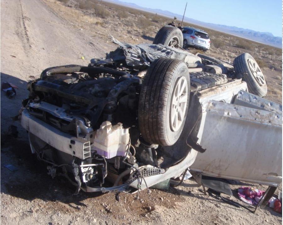 car rolls in crash copy
