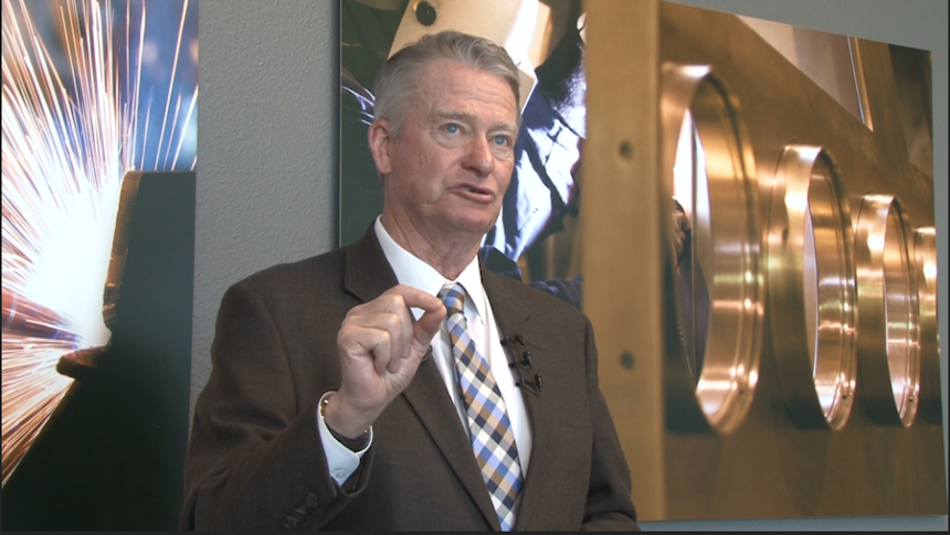 Governor Little at news conference in Blackfoot