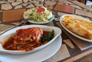 Lasagna from Buddy's Italian Restaurant in Pocatello
