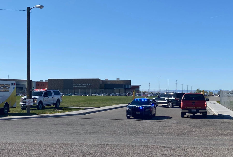 police at Rigby Middle School