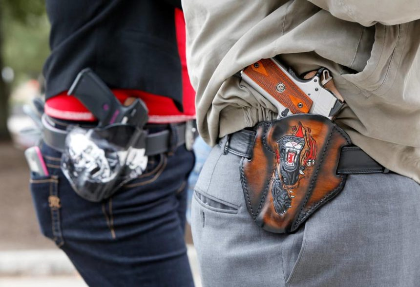 Guns carried in public