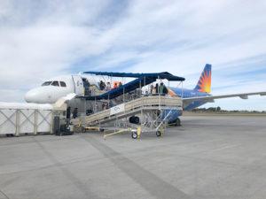 Inaugural flight to Portland