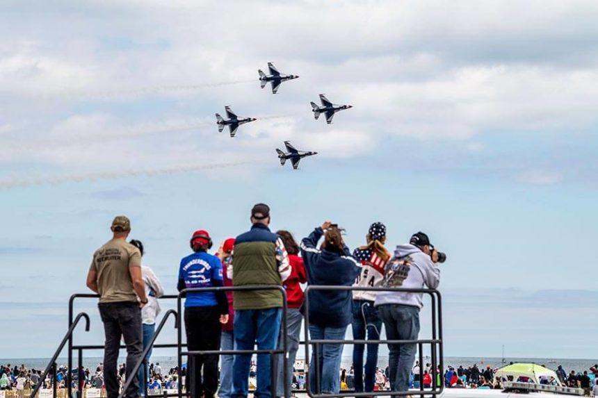 Memorial Day onlookers