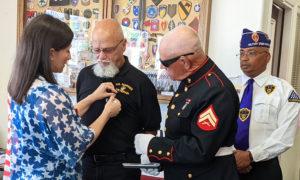 Bill Klobus receives Purple Heart Medal