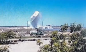 water tank explodes