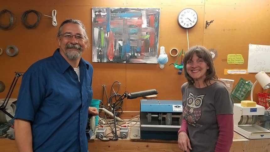 Daniel and Kara Hidalgo at Idaho Art Lab