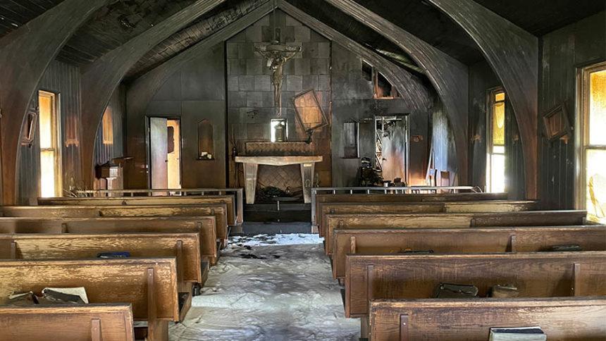 Catholic church fire