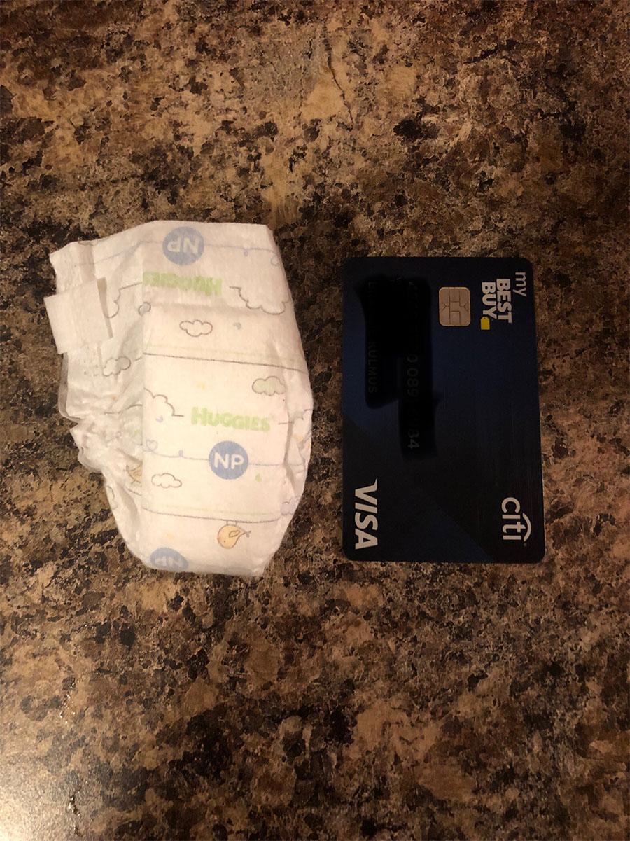 Ruth Taggs diaper compared to cc