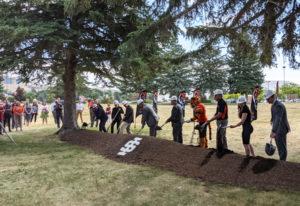 Dignitaries break ground on the ICCU ISU Alumni Center