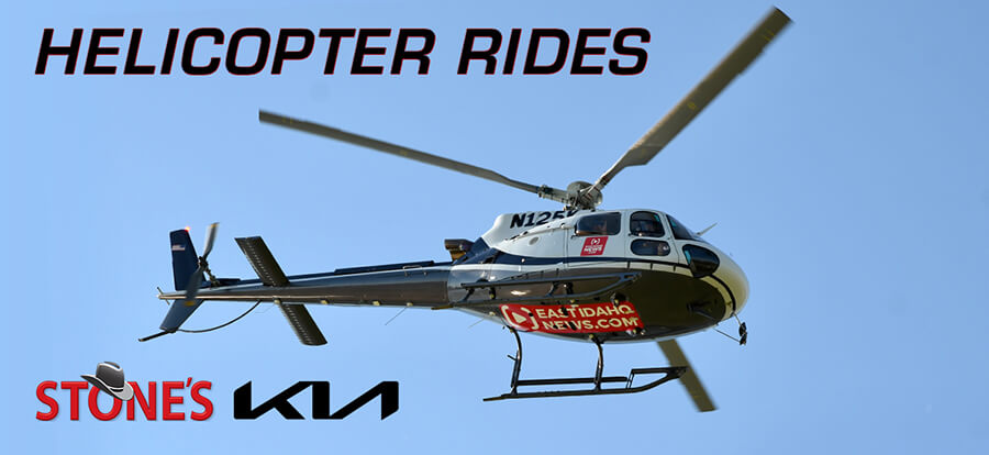 Ride our helicopter during Ammon Days!