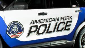 American Fork Police car