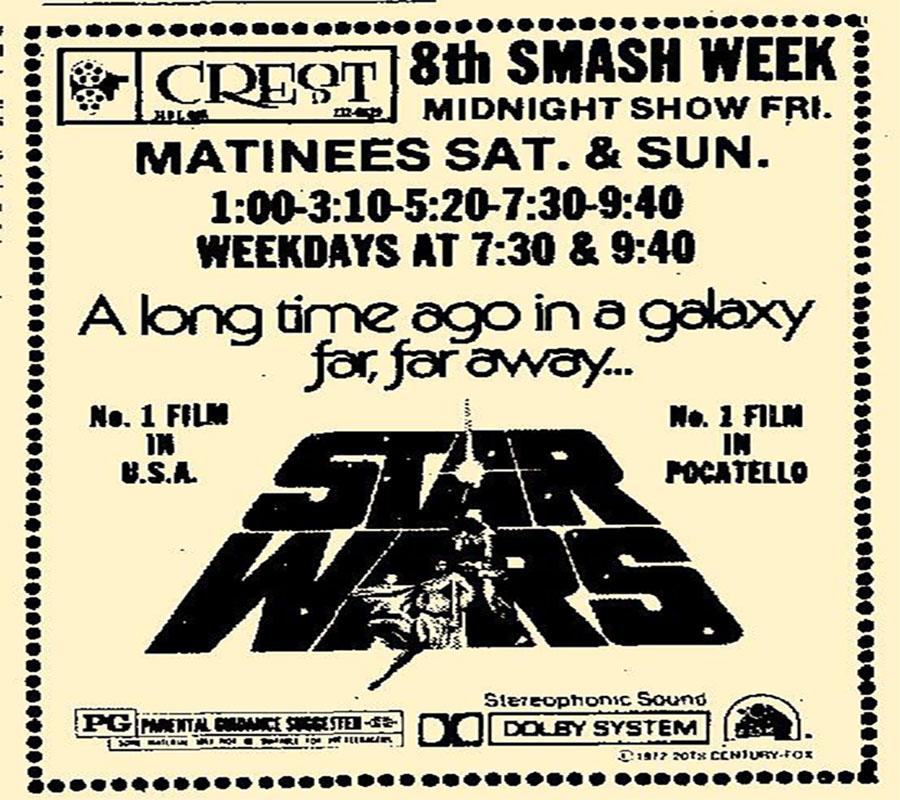 Star wars no 1 movie in Pocatello