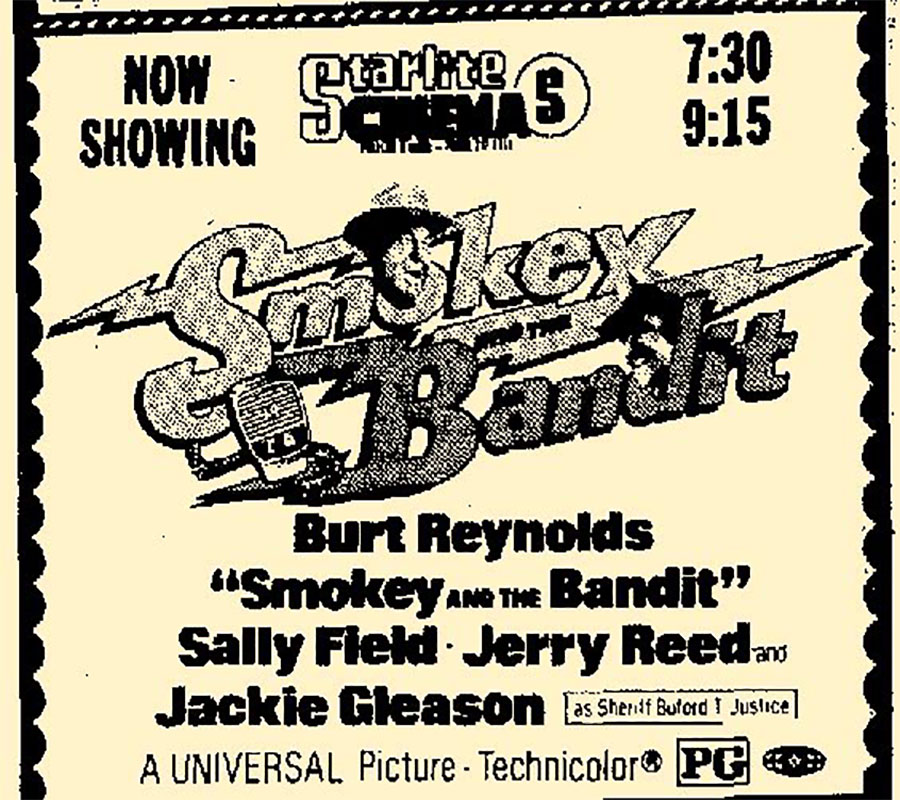 Smokey and the bandit ad in 1977