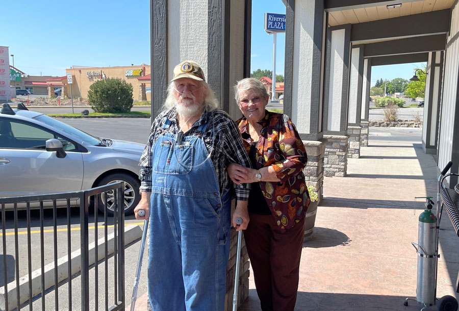 Fred and Penny Saunders, responsible for bringing The Wall That Heals to Idaho