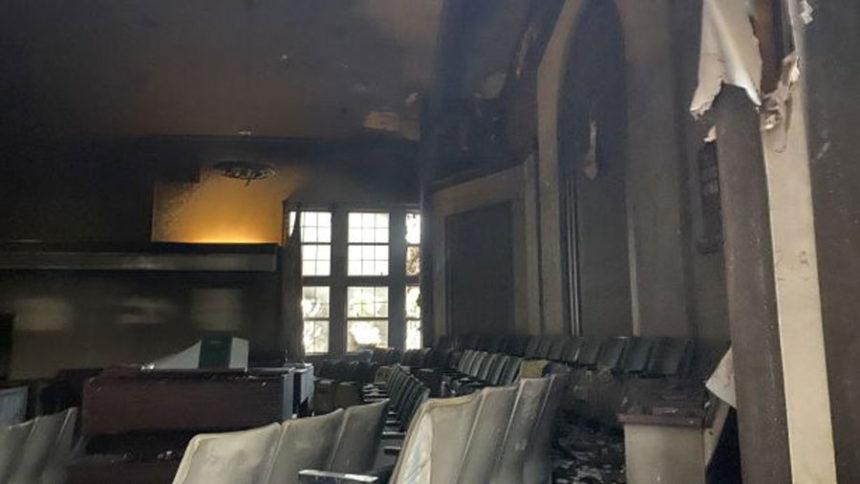 LDS Church Burn