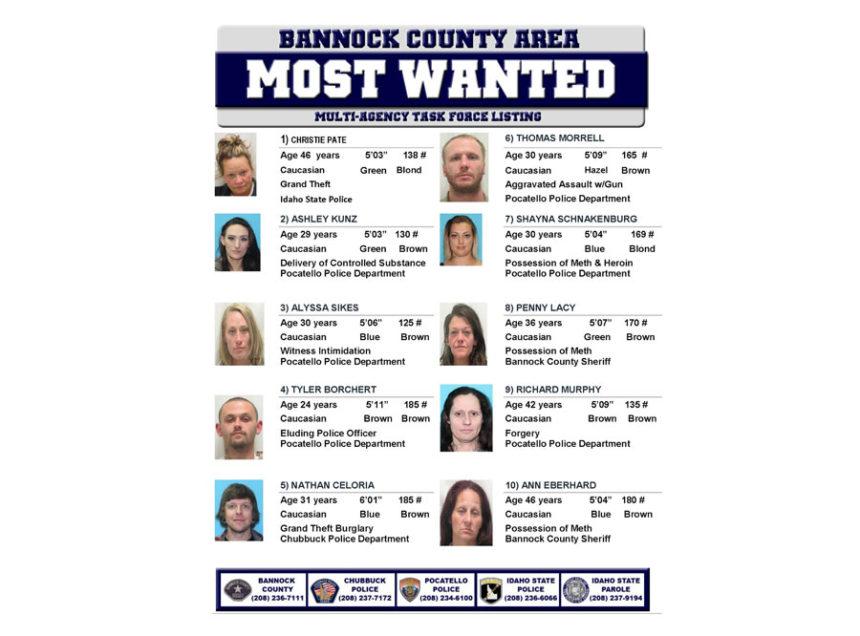 Pocatello/Chubbuck most wanted