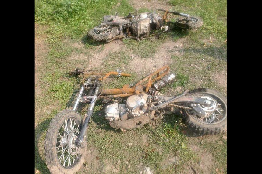 burned bikes