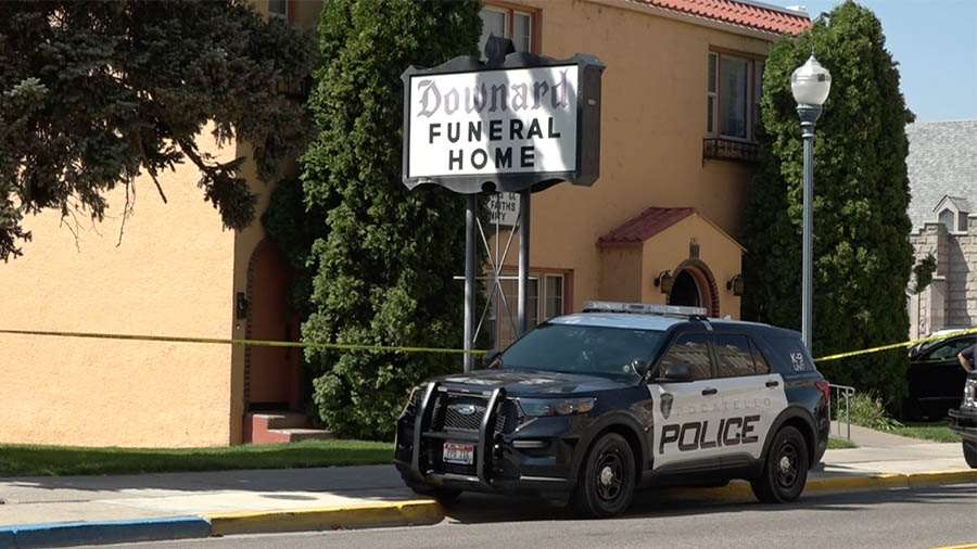 Funeral home police car