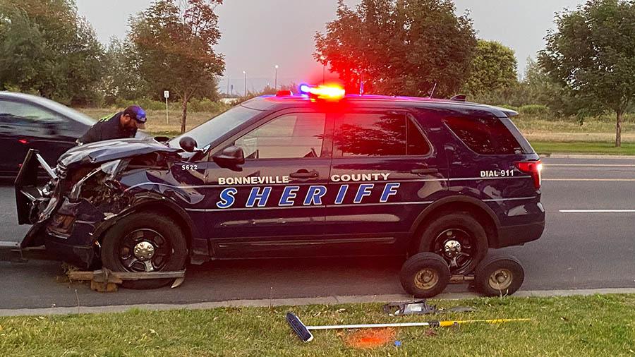 Damaged Sheriff car