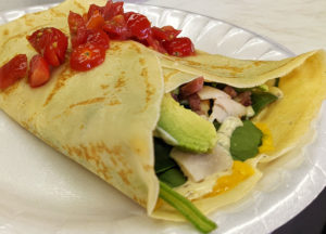Turkey-Bacon-Avocado Crepe, from Camille's Crepes