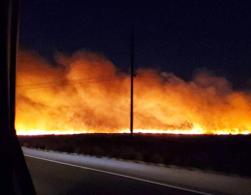 American Falls fire, courtesy Shandy Ellis