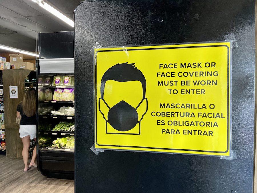 facemask warning
