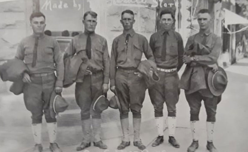 Many young men left Oakley to fight in