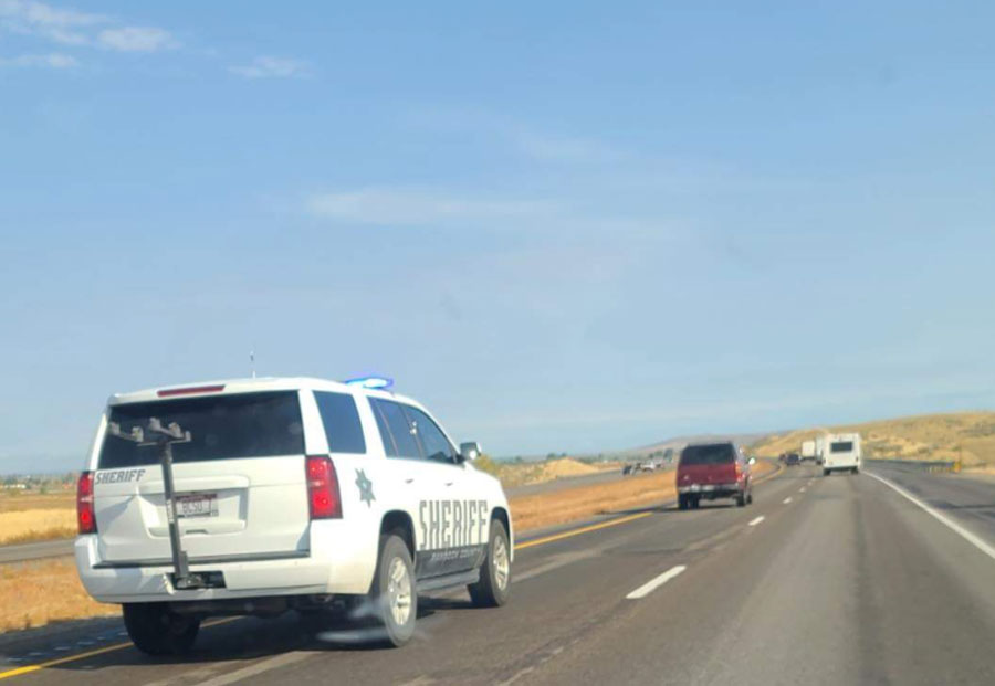 A woman who led a chase from Pocatello to Idaho Falls flees a Bannock County Sheriff's deputy