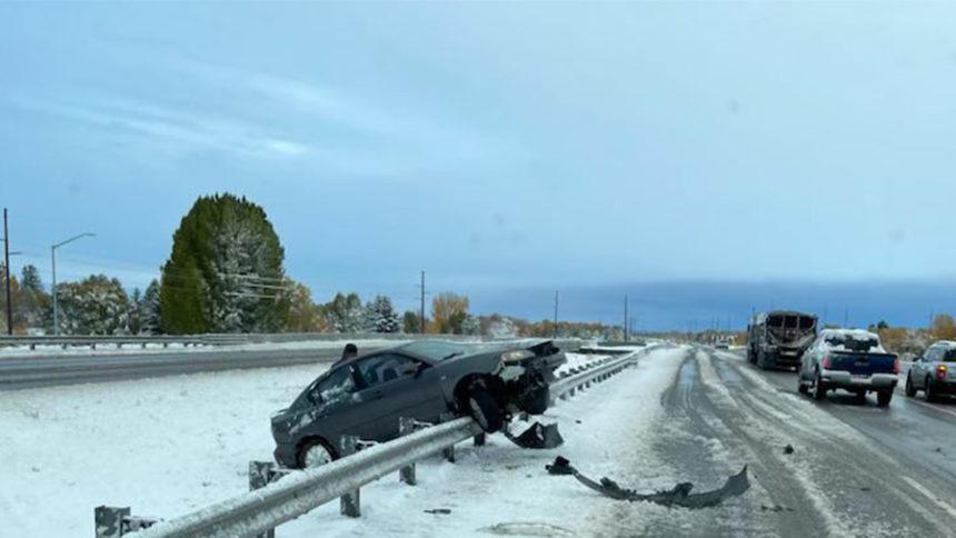 Crash on highway 20