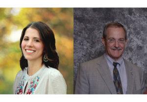 Rebekah Sorensen (left) and Marc Beitia, American Falls Mayor (2021)